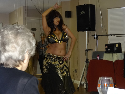 Belly Dancer provides entertainment