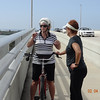Kathy Scott and Vadis Voas taking breather at top of Belair Causeway
