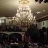Chandelier in main dining room of Columbia Restaurant
