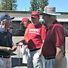 Bob Shafer providing rules to Doug Ropp and Henry Kostuck