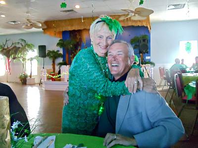 Dwaine getting a St. Patricks Day hug