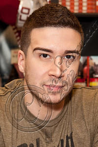 """WEST HOLLYWOOD, CA - MAY 02:  Television personality Vinny Guadagnino signs copies of his new book """"Control the Crazy"""" at Book Soup on May 2, 2012 in West Hollywood, California.  (Photo by Chelsea Lauren/FilmMagic)"""