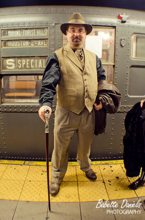 "Photos from the December 24 vintage Train ride with the New York and New Jersey Steampunks.<br /> <br /> The Vintage train runs the entire month of December on the F line in Manhattan between 2nd Ave and Queens Plaza.<br /> <br /> View the full gallery here:  <a href=""http://www.babetted.com/Events/Steampunk/Vintage-Train2011/"">http://www.babetted.com/Events/Steampunk/Vintage-Train2011/</a>"
