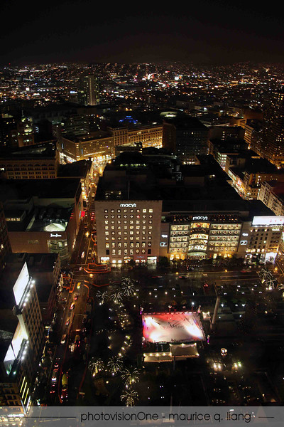 Holiday party was on the 36th floor of the Grand Hyatt in San Francisco, overlooking Union Square and the Bay.