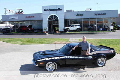 Host Paul Normandin with his 'cuda.