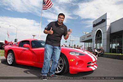 New Viper Amit celebrates his birthday with his new Viper.