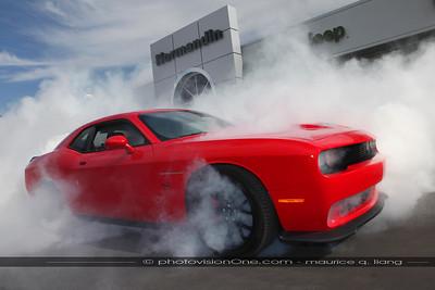 2014 Normandin Mopar show, introduces the new Challenger Hellcat.