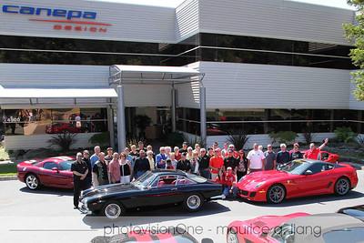Ferrari club group photo.