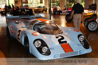 Bruce's museum collection is upstairs.  Porsche 917.