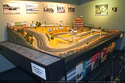 Jim Farley's slot car track of Laguna Seca.
