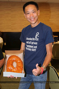 Everything is big in Texas.  Including the donuts!