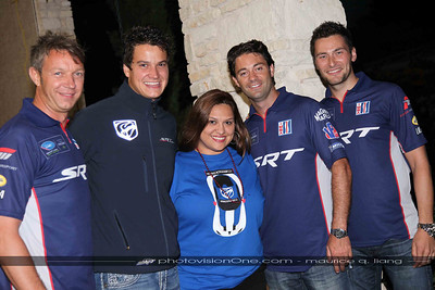 Yvette with the SRT drivers.