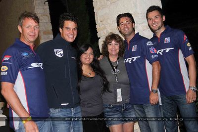 Hilary and D'Ann with the drivers.