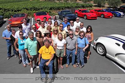 Group photo at Bray Vineyards.