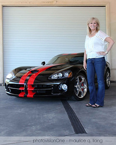Janis with her new Viper.
