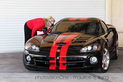 Shelly checks out the new Viper.