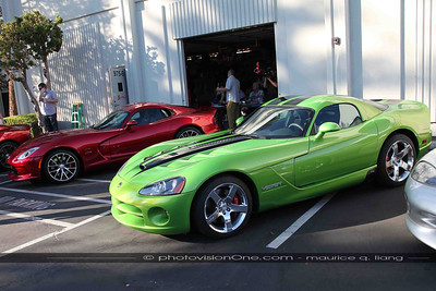 Scott Brown from Chrysler PR brought along a Stryker Red 2013 Viper, as did club member Bruce Dereschuk.