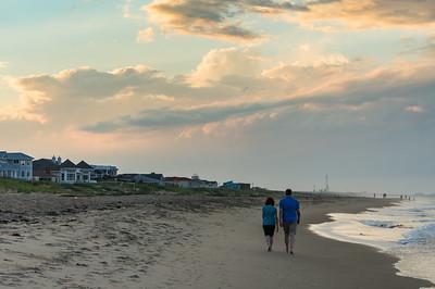 Karen and Larry Evening Beach Walk