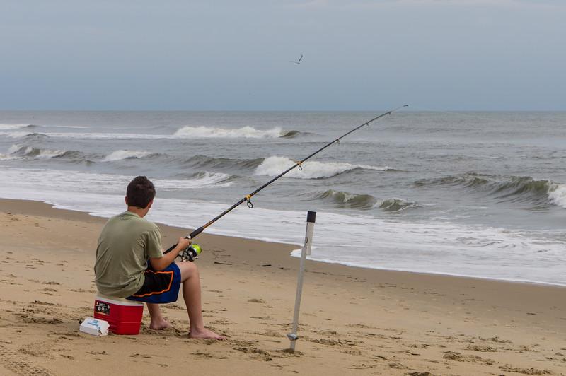 Fishing on Sandbridge Beach