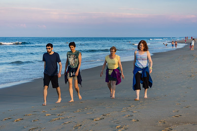 Ben, Daphne, Donna and Karen on Evening Beach Walk