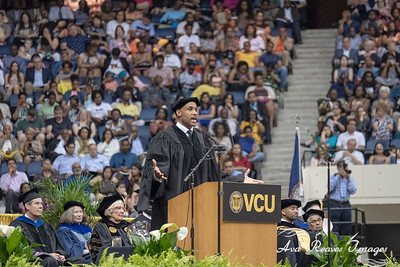 Actor and former Virginia Commonwealth University graduate, Boris Kodjoe delivers the commencement address to the Class of 2018  of Virginia Commonwealth University on May 12, 2018