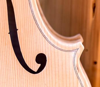 Detail of violin purfling