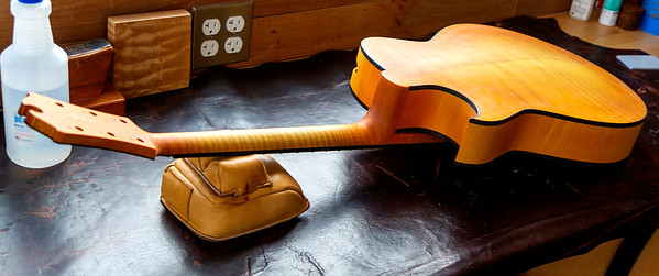 A new almost-finished acoustic guitar