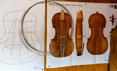 Patterns for a historic Jacob Steiner viola