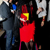 """Brini Maxwell, a drag queen on New York TV, hosts the """"Big Time"""" fashion show at Valanni in Center City. More than two dozen '80s-inspired looks took to the runway at the restaurant Thursday."""