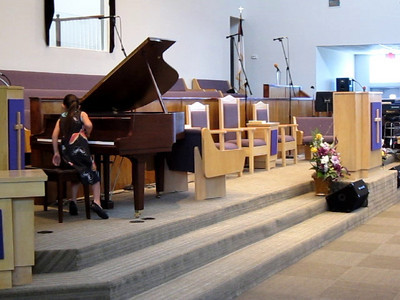 "April performs ""Five Note Sonatina"" and ""Jesus, Joy of Man's Desiring"""