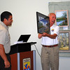 <b>Xavier Cathey presents Volunteer of the Year award to Heinz Schmitt</b> <b>March 26, 2014</b> <i>- Kay Larche</i>