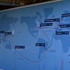 The route representing nearly 39,000 nautical miles total.