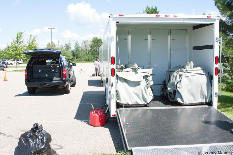 Anoka emergency vehicle and trailer