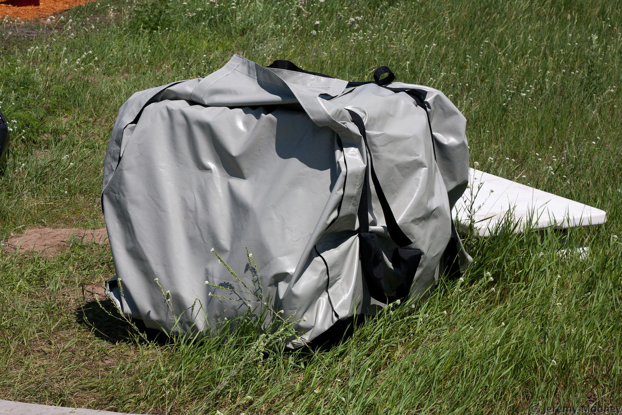 Tent wrapped
