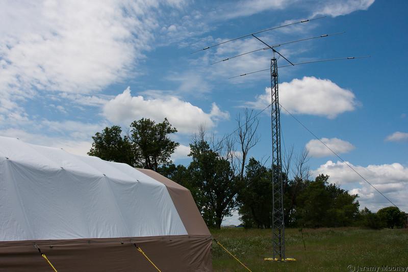 Beam and beam operating tent