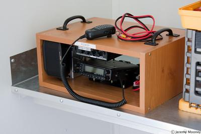 Portable radio setup