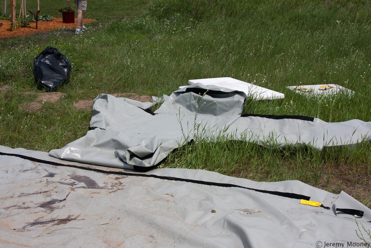 Tent case laid out