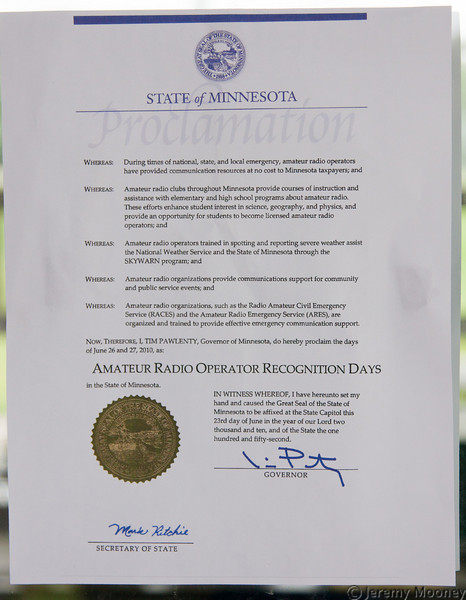 MN Amateur Radio Proclamation