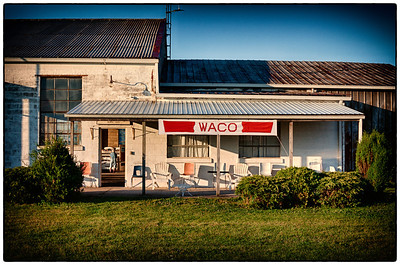 The hangar at the Wynkoop Airport during the 53rd National Waco Club Reunion in Mount Vernon, Ohio. Shot on morning of June 23, 2012.
