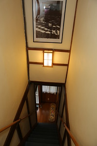 Inside stairway of the WFC to upstairs accommodation rooms.