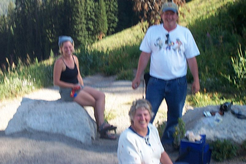 Nice Family  from Texas we met in Mountains above Jackson Hole, Wyoming.