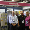 Winner of the Best Trade Site - AIM Water, Bryan Fraser & Linda Fraser pictured with Daniel Jessop of WME