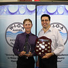 QLD Operator of the Year (Civil Works) - Ashley Reidy (L) with Rob Fearon (qldwater)