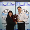 QLD Young Operator of the Year - Tammy Beddow (L) with Rob Fearon (qldwater)