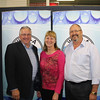 WIOA Chairman Ron Bergmeier (L) pictured with Linda & Bryan Fraser of AIM Pumps - Winner of WME Media's Best Trade Site