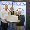 Iwaki Prize for Best Paper Overall - Shane Wohlsen (L) with Col Kirkegaard & Alistair Cumming from Banana Shire Council