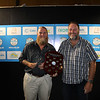 QLD  Operator of the Year (CivilAllrounder) - Matthew Weeks (L) from Banana Shire Council with Dave Cameron from qldwater