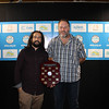 QLD Young Operator of the Year - Ben Pennell (L) from City of Gold Coast with Dave Cameron from qldwater