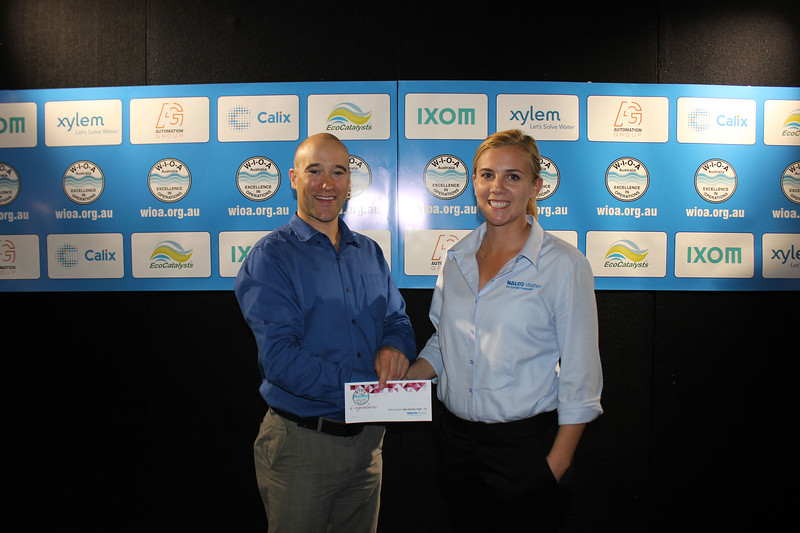 Nalco Water Award for Best Paper by an Operator 1st - Gary Fenwick from Queensland Urban Utilities, with Veronica Watson from Nalco