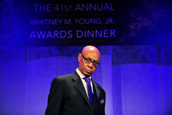 "LOS ANGELES CA.  LOS ANGELES URBAN LEAGUE ""AND STILL WE RISE"" THE 41ST ANNUAL WHITNEY M. YOUNG JR. AWARDS DINNER HONORING MATTIE MCFADDEN-LAWSON AND HUSBAND MICHAEL LAWSON WITH THE WHITNEY NM. YOUNG JR. AWARD AT THE HYATT CENTURY PLAZA HOTEL ON APRIL 25, 2014.(Photos by Valerie Goodloe"
